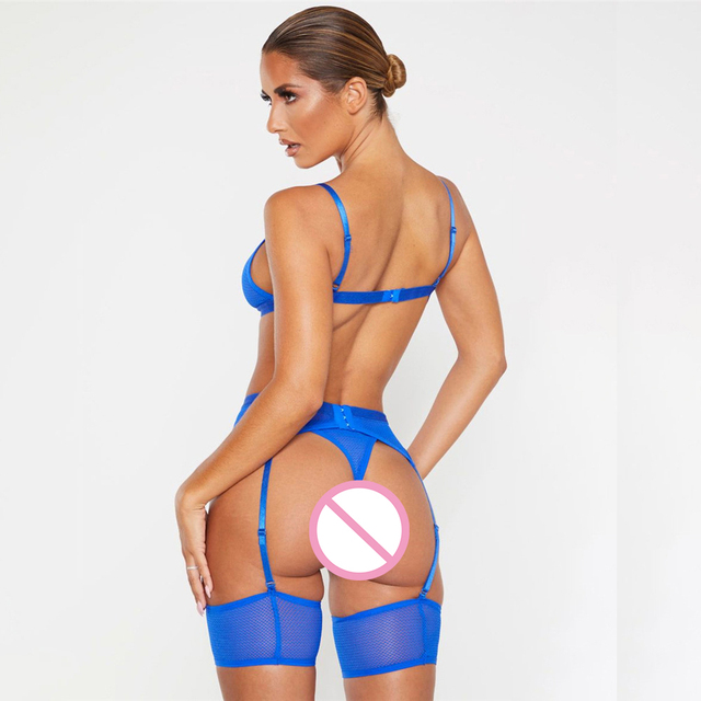 Dessous Transparent Bh Set Damen Unterwäsche Set Spitze Sexy Dessous Set 3 Stück Set Erotische Dessous 2