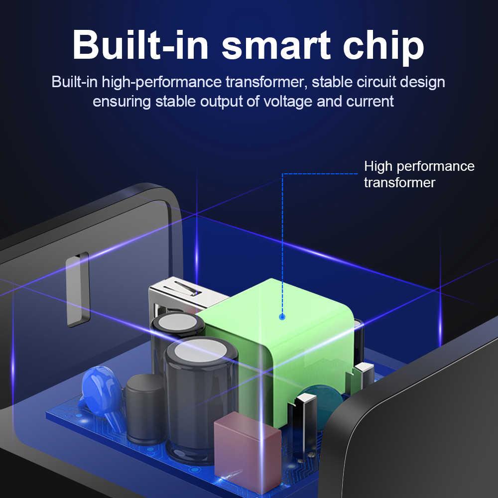 Olaf Pengisian Cepat 3.0 USB Charger Ponsel Universal Charger untuk Iphone 6 7 8 X Max Pengisian Cepat Dinding charger untuk Xiaomi