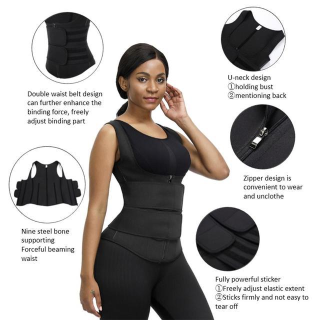 Lover-Beauty Neoprene Sauna Shaper Waist Trainer Corset Sweat Slimming Belt Women Weight Loss Compression Trimmer Workout Vest 4