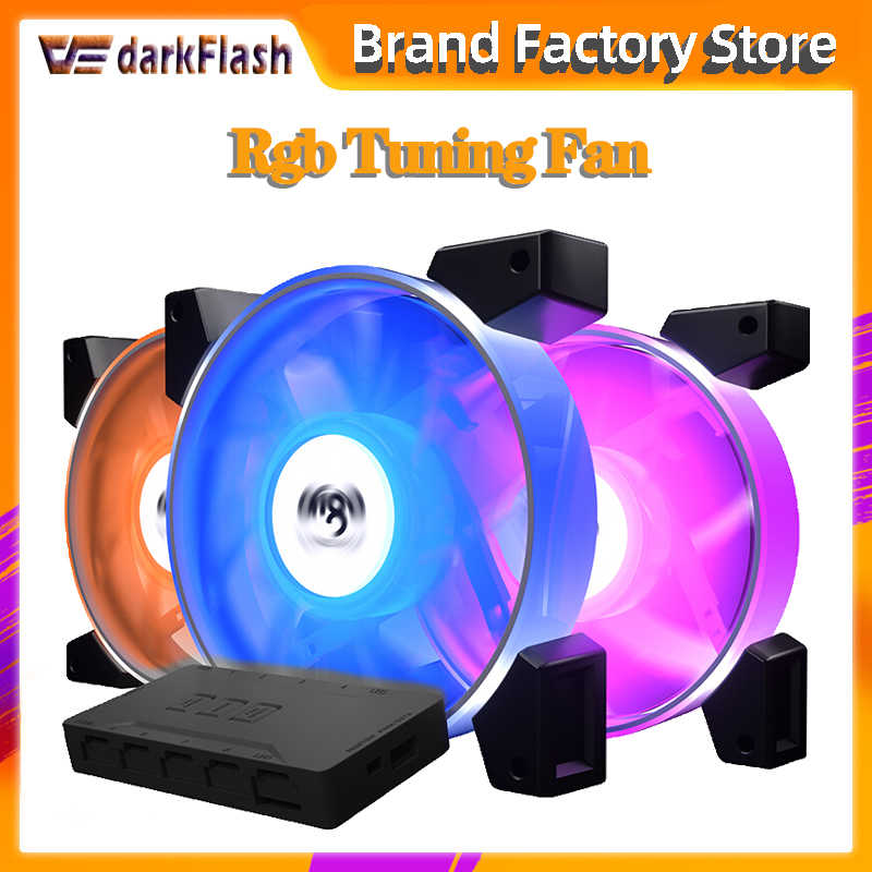 Aigo Darkflash C7 Rgb Fan 120 Mm Led Pc Computer Case Fans Rgb Rustig Remote Aura Sync Computer Cpu Koeler cooling Passen Case Fan