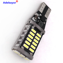 Светодиодсветодиодный лампа T10 повышенной яркости 300xT15 W16W, 30 SMD 4014, Canbus, без ошибок, стоп сигнал, резервные огни, стоп сигнал, лампочка, стоп сигнал, белый, 12 В, 24 В