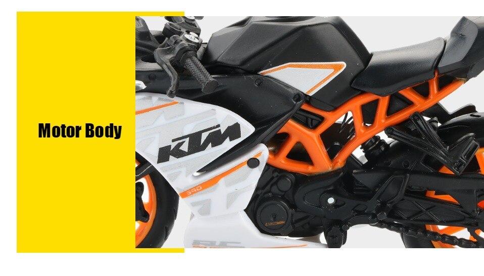 Toy KTM RC 390 Motorbike 11x3x6 cm 47