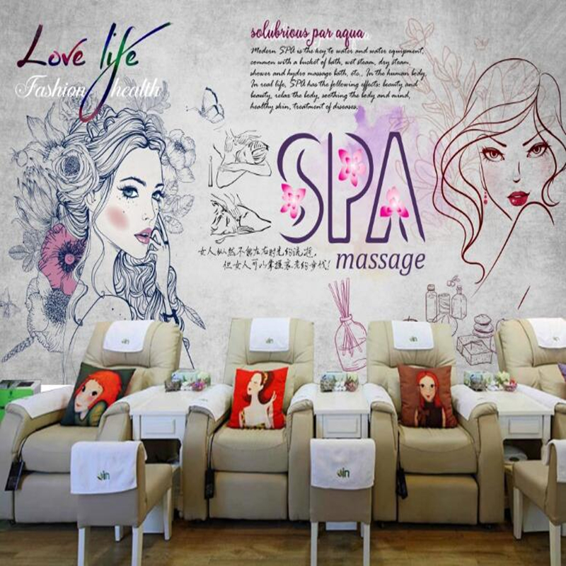 Custom Papel De Parede 3d Health Care Hall Mural For Health Club Spa Living Room Background Decoration Waterproof Wallpaper Wallpapers Aliexpress