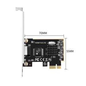 Image 4 - DIEWU Game PCIE card 2500Mbps Gigabit Network Card 2.5G RJ45 Network Adapter PCIe1X lan Card with Realtek8125