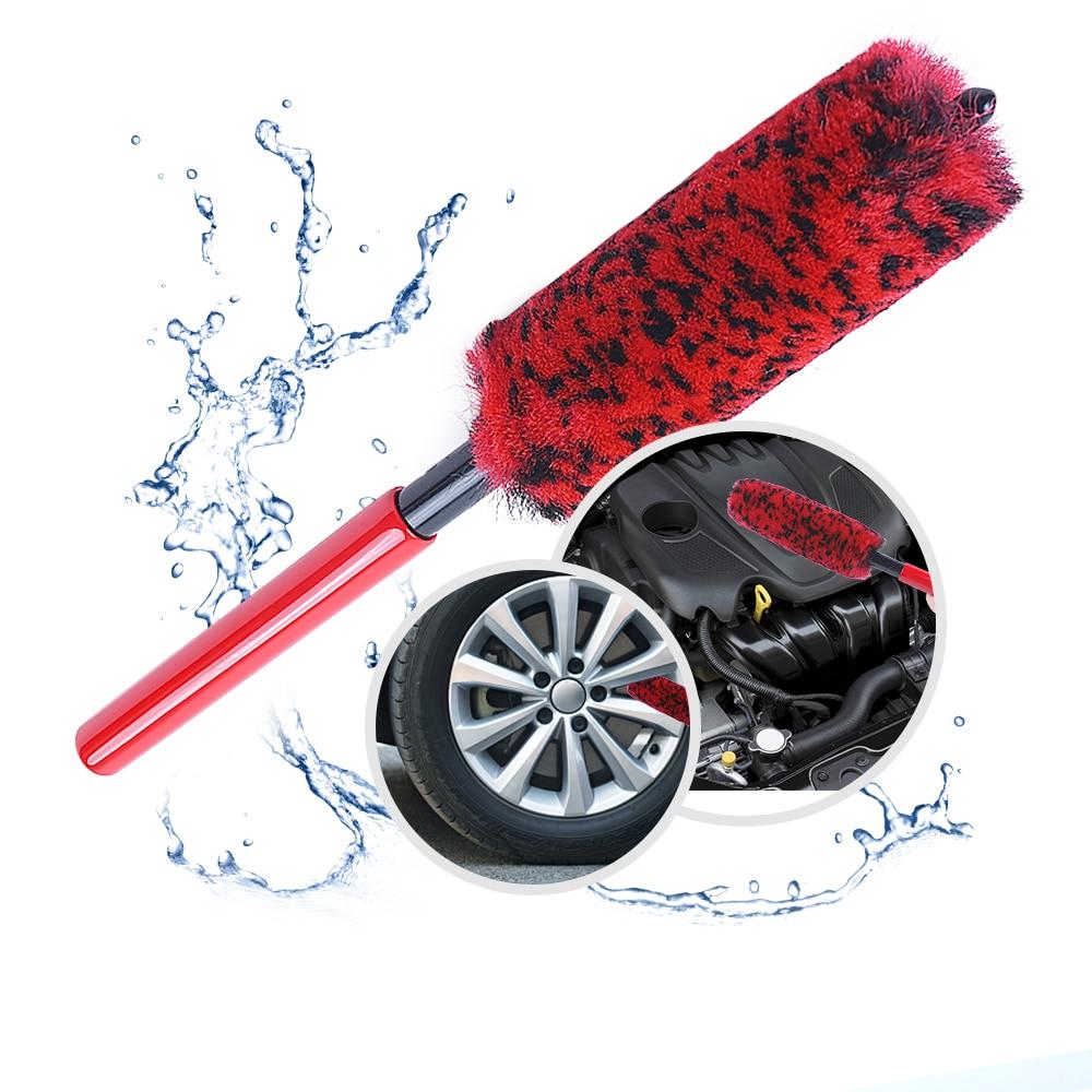 Mikkuppa metal livre de lã sintética roda escova pneu woolies macio densas fibras limpar rodas com segurança