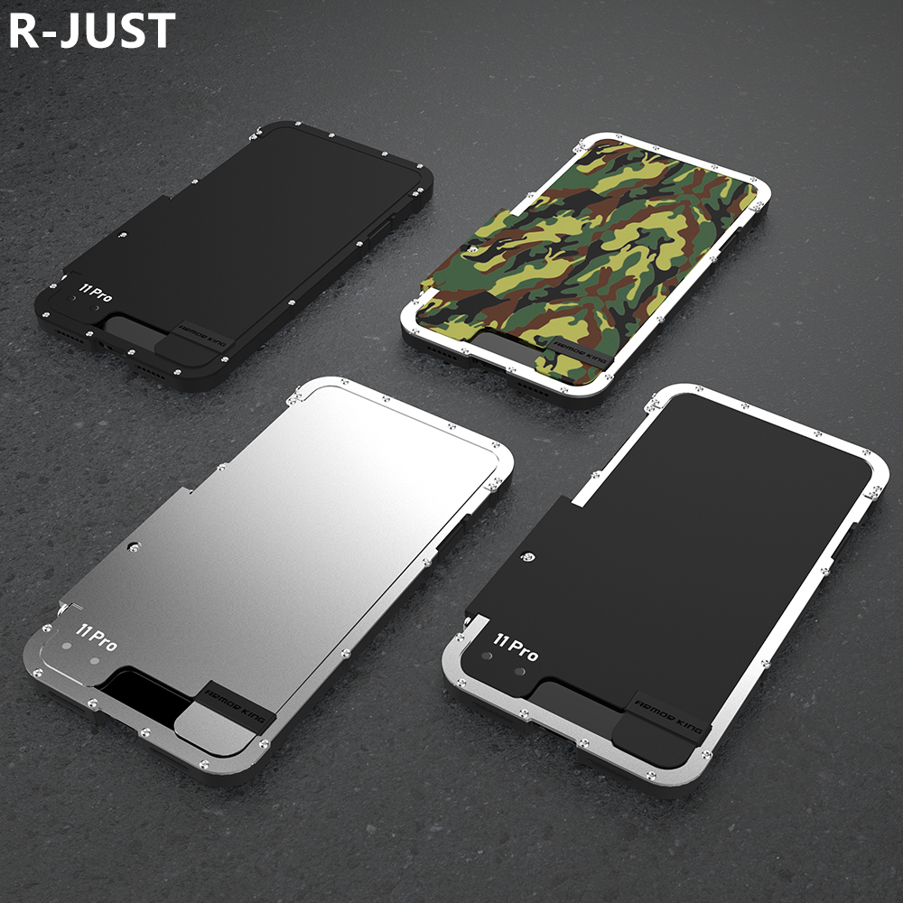 for iPhone 11 Pro Max Case Cover Luxury Metal Hard Nylon Hybrid Shockproof Armor Flip Phone Case for iPhone 11 Back Cover Funda
