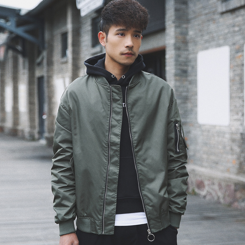 couple army green vintage retro bomber jackets windbreaker mens hip hop hipster biker pilot baseball jacket japanese streetwear in Jackets from Men 39 s Clothing