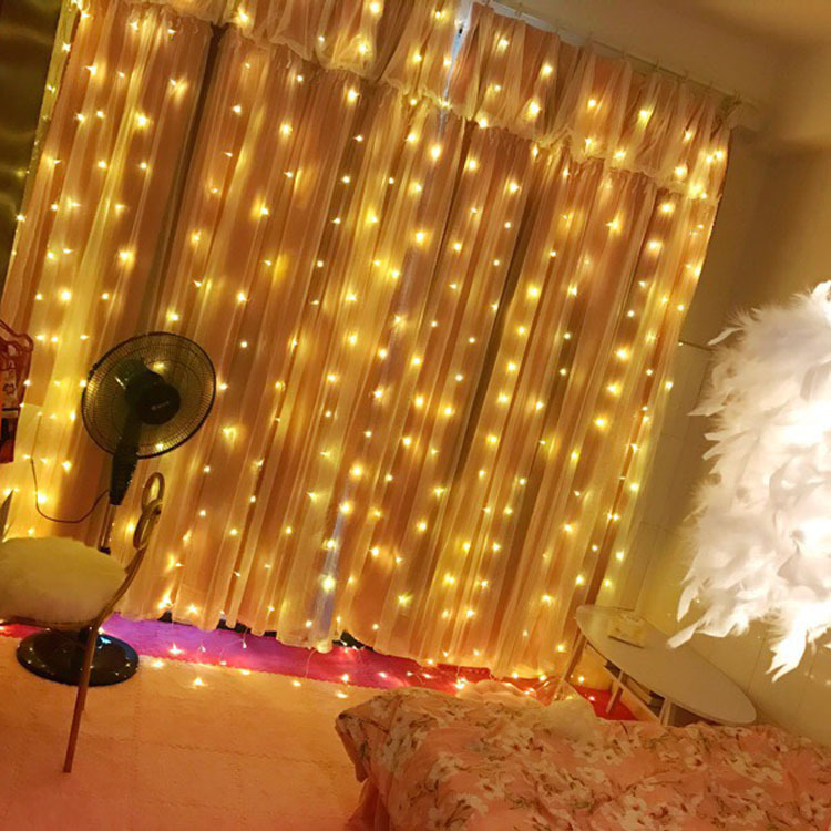 led lights string Curtain Holiday Decoration Festival Christmas Lights indoor Strip Light New Year Decoration Light String