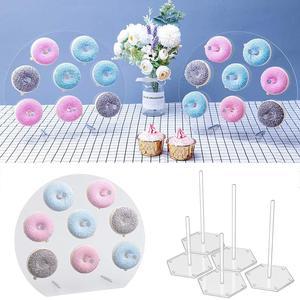 Image 3 - Soporte de pared de Donut para decoración de cumpleaños, suministros de fiesta de donuts, mesa de Decoración de cumpleaños, evento de boda para Baby shower