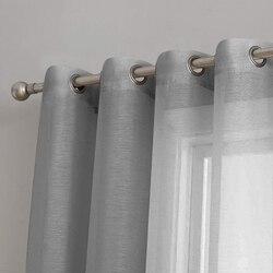 Giappone Solido Tende di Tulle per la Decorazione Soggiorno Camera Da Letto Moderna Sheer Voile Finestra Della Cucina Tenda Pura
