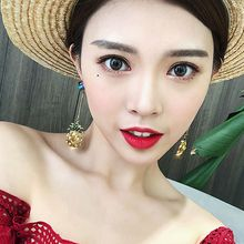 Shiny Pineapple Crystal Drop Dangle Earring Rhinestone Statement Fashion Jewelry H8WF