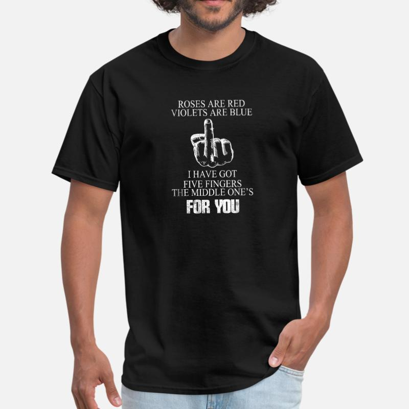 FUNNY MIDDLE FINGER FLIP THE BIRD INSULT Mens-Fit 100/%Cotton T-shirt TEE Shirt