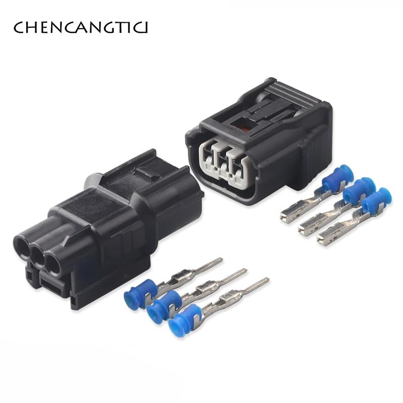 2 Sets Sumitomo 3 Pin Way 6188-4775 6189-7037 Waterproof Cable Connector Air Intake Pressure Sensor Socket Plug DJ70310-1-11