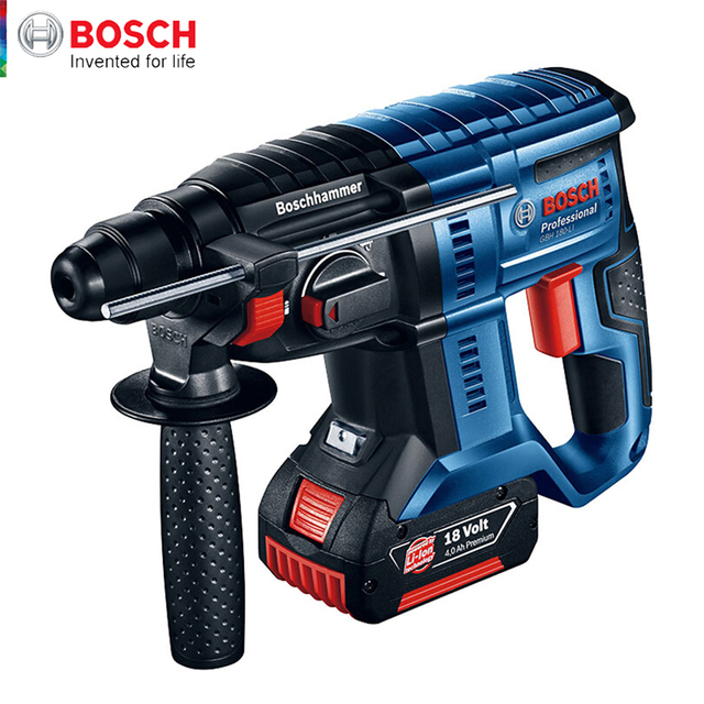 Bosch Electric Impact Drill Four Pits Lithium Rechargeable Powerful Wireless Multi-function Household 18V Electric Hammer Drill 1