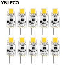 10 pces g4 lâmpada led 12 v dc pode ser escurecido cob led g4 lâmpada lâmpadas 360 ângulo de feixe nenhuma cintilação substituir 10 w 15 w lâmpada de halogênio