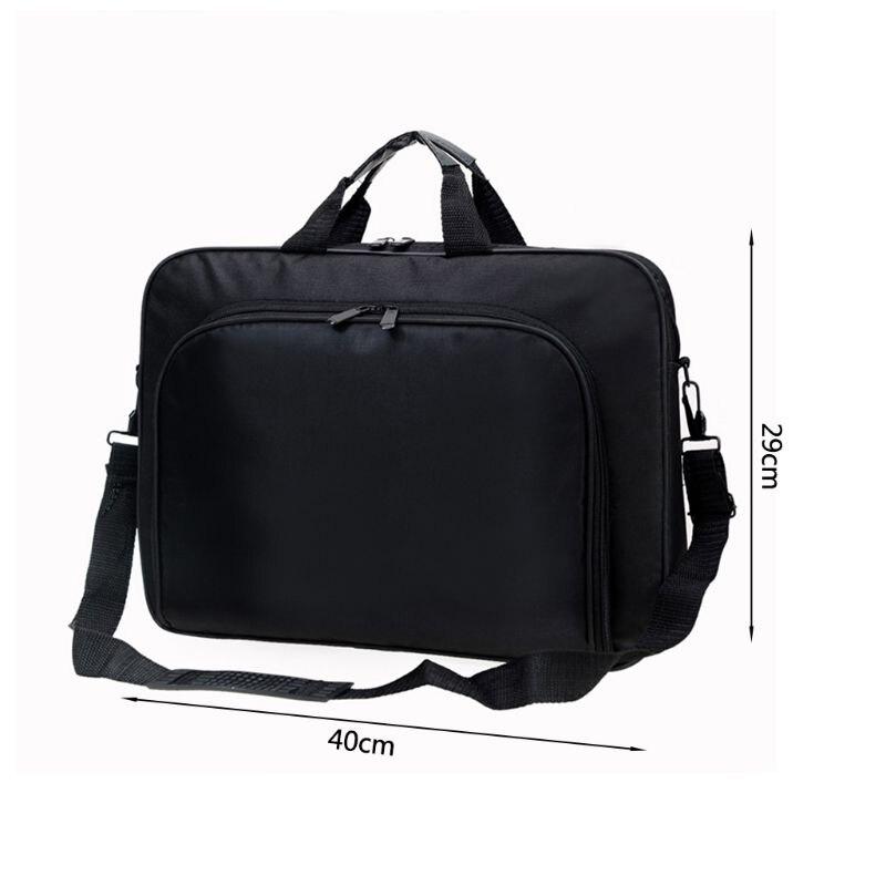 Briefcase Bag 15.6 Inch Laptop Messenger Bag Black Business Office Bag Computer Handbags Simple Shoulder Bag for Men Women 6