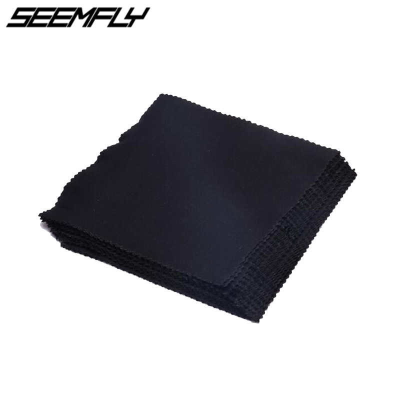 Seemfly 10 pcs/lots High Quality Glasses Cleaner 14*14cm Microfiber Glasses Cleaning Cloth For Lens Phone Screen Cleaning Wipes image