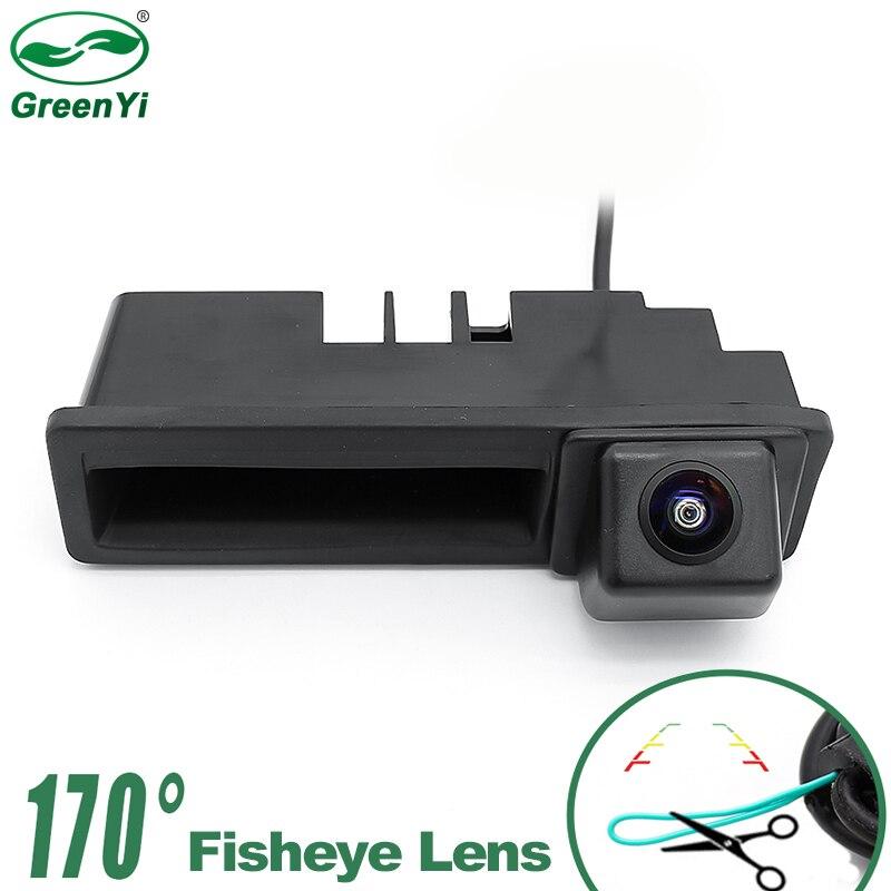 HD 1280x720P MCCD Starlight Ночное видение 170 градусов объектив рыбий глаз Автомобильная камера с ручкой для багажника для Audi A3 A4 A6 A6L S5 Q7