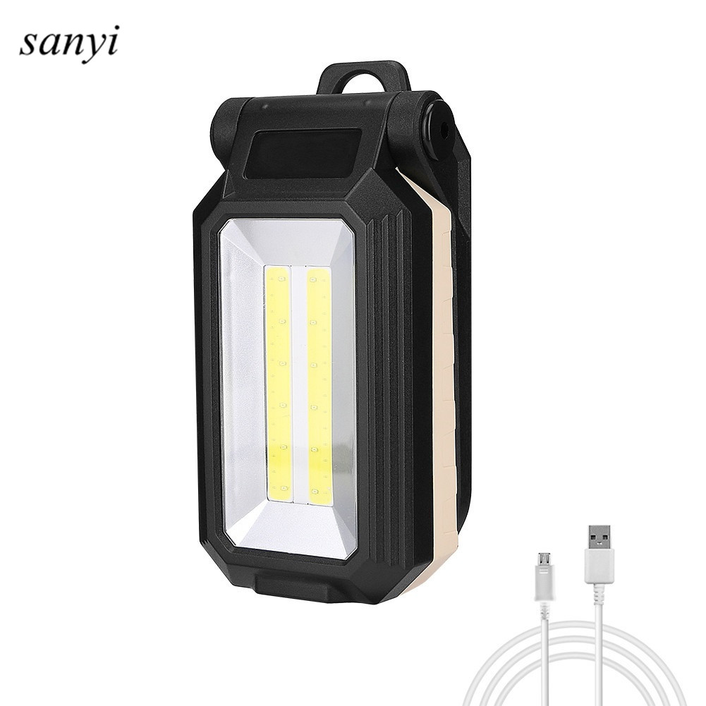 T6+COB LED Flashlight Magnetic Work Lamp Built In Battery With Hanging Hook Magnet Power Display USB Rechargeable Lamp Torch