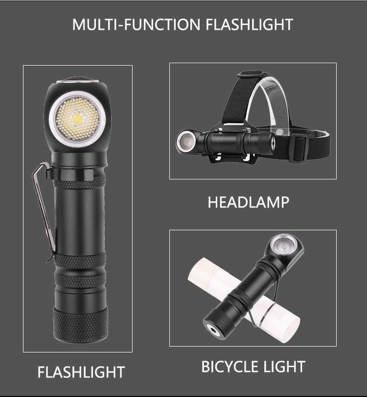 Super Bright XHP50 LED flashlight magnetic charging can as headlights 12 lens torch built-in 18650 battery multi-purpose light