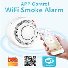 Detector de humo WiFi Tuya Smart Life APP alarma de fuego Sensor de humo WiFi alarma de humo Detector de seguridad 80dB