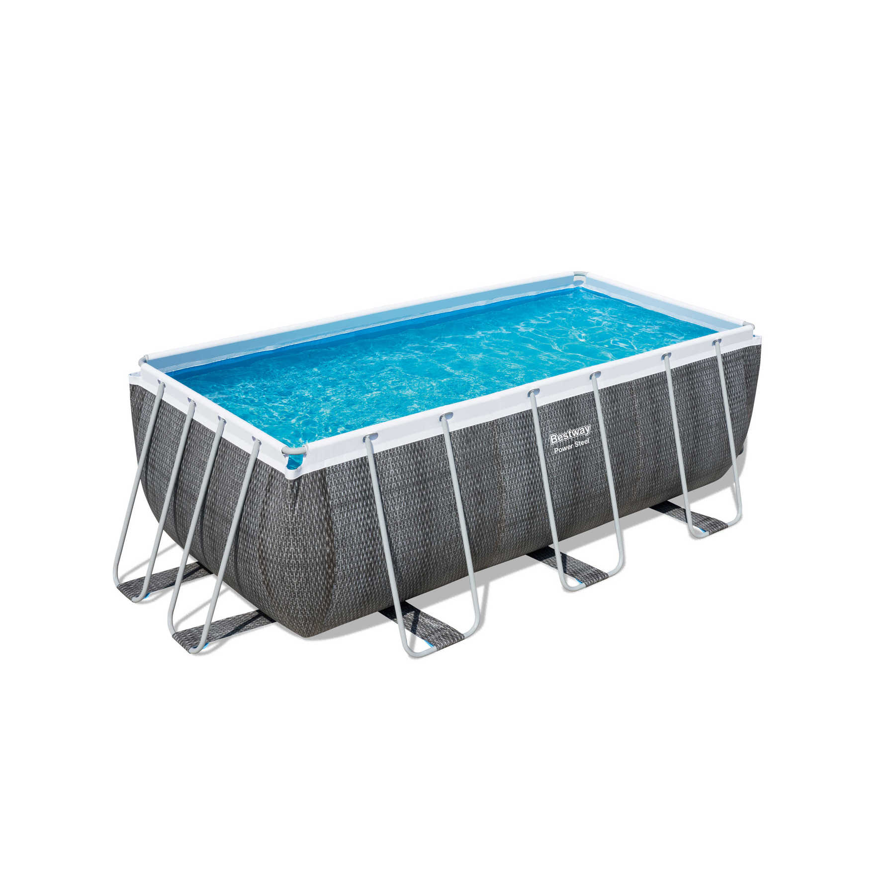 Scaffold Rectangular Pool 412 х201х122см, Filter Pump, Ladder, Dispenser, Outdoor Summer Swimming, Bestway, Item No. 56722