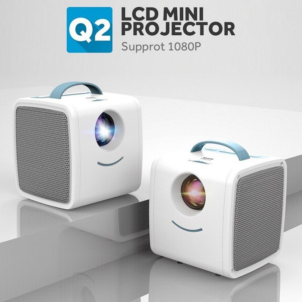 Mini Q2 New Mini Projector WIFI USB Children Portable Projector 2W Micro Video Projector 320x240p For Family Children's