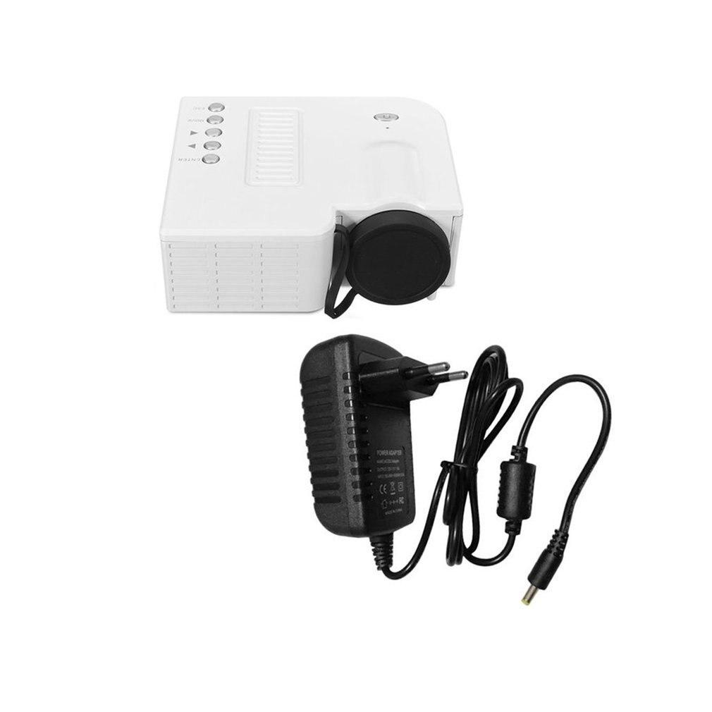 Prise ue Mini projecteur à LED portable 1080P multimédia famille cinéma maison USB TF carte entrée Mini projecteur pour ordinateur portable