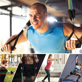 11 in kit upgrade resistance loop bands powerful effective for exercise sports fitness home gym yoga