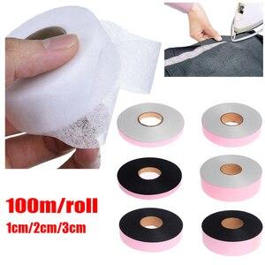 1 рулон, 100 метров, односторонняя клейкая лента для шитья одежды