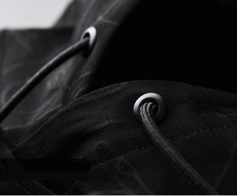 UJWI геометрические и треугольные мужские толстовки на молнии с 3D принтом черная синяя спортивная одежда хит продаж Мужская Новая Recom Мужская... - 4
