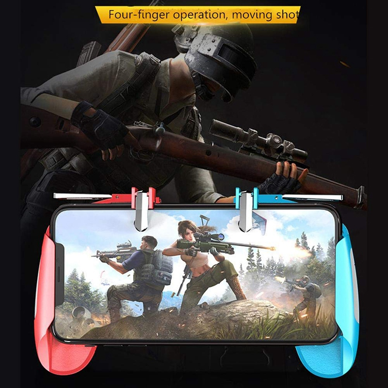 K18 ABS Mobile Gamepad Handle Fr Pubg Controller Game Shooter Trigger Fire L1R1 Button for IPhone IOS Android Gaming Accessories