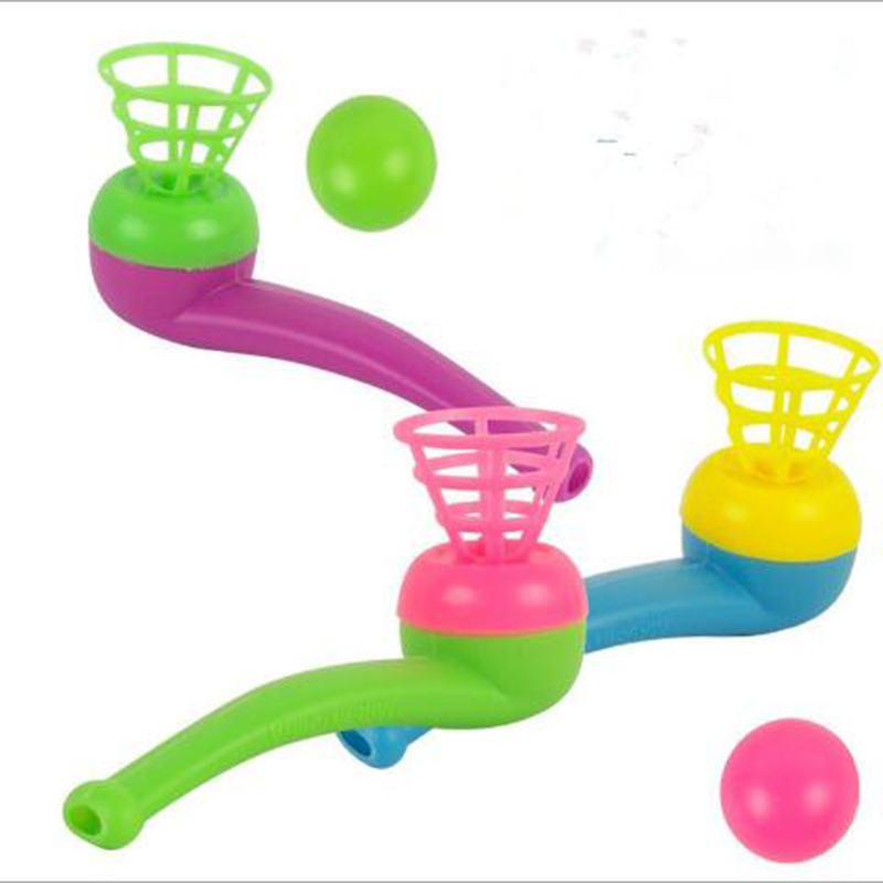 5pcs/lot Nostalgic Children's Toy Pipe Blowing Ball Hanging Suspended Ball Children's Educational Gift Magic Toys