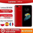 Глобальный Встроенная память lenovo S5 K520 4 GB 64 GB Snapdragon 625 Octa core 13MP двойная задняя камера 16MP Передняя камера Face ID смартфон 4 K
