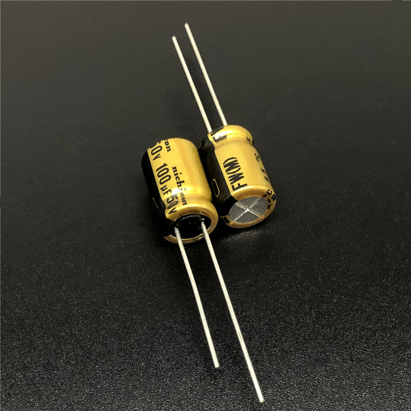 5Pcs/50Pcs 100uF 50V NICHICON FW Series 8x11.5mm 50V100uF HIFI Audio Aluminum Electrolytic Capacitor