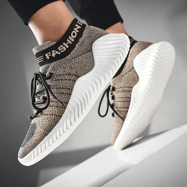 Chaussures montantes décontractées pour homme, à lacets, baskets de sport, tendance, tennis vulcanisées, grande taille