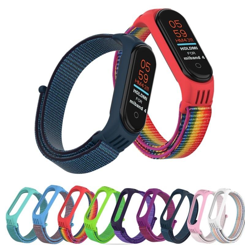 Sport Bracelet For Xiaomi Mi Band 3 4 Strap Watch Nylon Wrist Straps For Xiao Mi Mi Band 4 3 Correa Bracelet Miband 4 3 Strap
