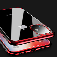Luxury Transparent Plating Cover For iPhone