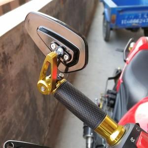 "Image 3 - 2 sztuk aluminium motocyklowe 7/8 ""22mm Bar End Side lusterko wsteczne uniwersalny motocykl kierownica rowerowa lusterka wsteczne uniwersalne"