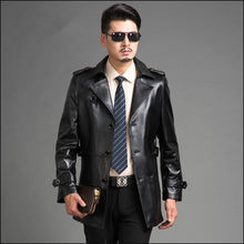 Chaqueta Real Men Coat Cuero Hombr 2020 Fashion Black Genuine Mens Leather Jacket Brand Clothing FYY605(China)