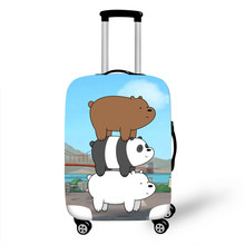 Luggage Protective Cover Case For Elastic 18-32 Inch Suitcase Protective Cover Cases Covers Travel Accessories Three Bears G1232(China)