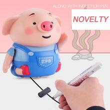 Drawing Line Following Inductive Binory Magic Pig Robot Pen Inductive Pig With Light Music Smart Education Kids Toy DROPSHIPPING