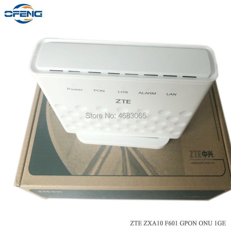 Free Shipping ZTE 1GE Port F601 Gpon Ont Compatible With Huawei Zte Olt, English Firmware