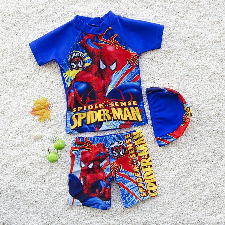New Style KID'S Swimwear Big Boy Split Type Tour Bathing Suit BOY'S Swimsuit CHILDREN'S Swimsuit Boy Bathing Suit With Swim Cap
