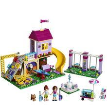 цена на 341pcs Girls Compatible With Lepining Friends Heartlake City Playground Building Blocks Bricks Education Toys For Girls