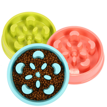 Pet Slow Feed Feeder ABS Plastic Dog Food Bowl Cat Health Prevent Obesity Pharyngeal