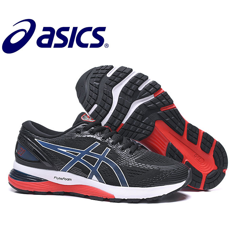 Asics-Original Hombre Nimbus 21 Original Men's Sneakers Running Stability Asics Man's Running Shoes Breathable Sports Nimbus 21