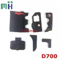 ชุดใหม่ Body ยาง 6 pcs ฝาครอบด้านหน้าและฝาครอบด้านหลังยางสำหรับ Nikon D700 กล้องซ่อมอะไหล่