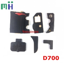 NEW A Set Of  Body Rubber 6 pcs Front cover and Back cover Rubber For Nikon D700 Camera Replacement Repair spare parts