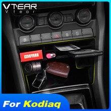 Vlarme pour Skoda Kodiaq boîte de rangement de voiture commande centrale porte plateau rangement rangement intérieur moulures accessoires de style 2019